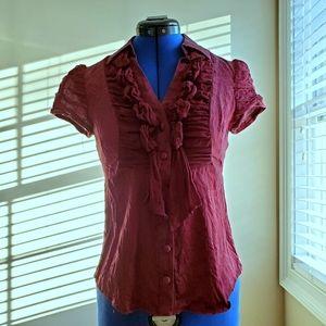 Nanette Lepore Silk Chiffon Victoria Blouse Top 4